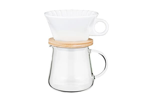 621000 / IWAKI COFFEE POT & DRIPPER SET - 400ml