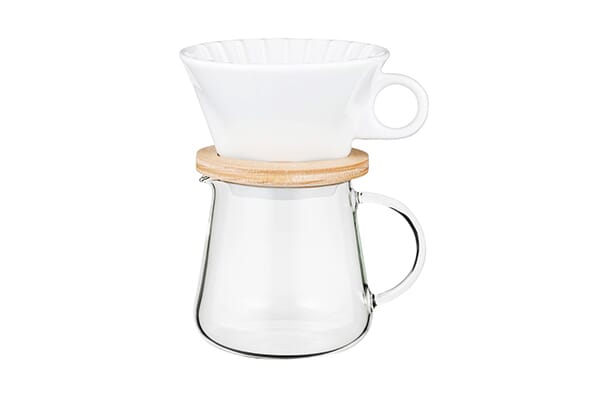 621001 / IWAKI COFFEE POT & DRIPPER SET - 600ml